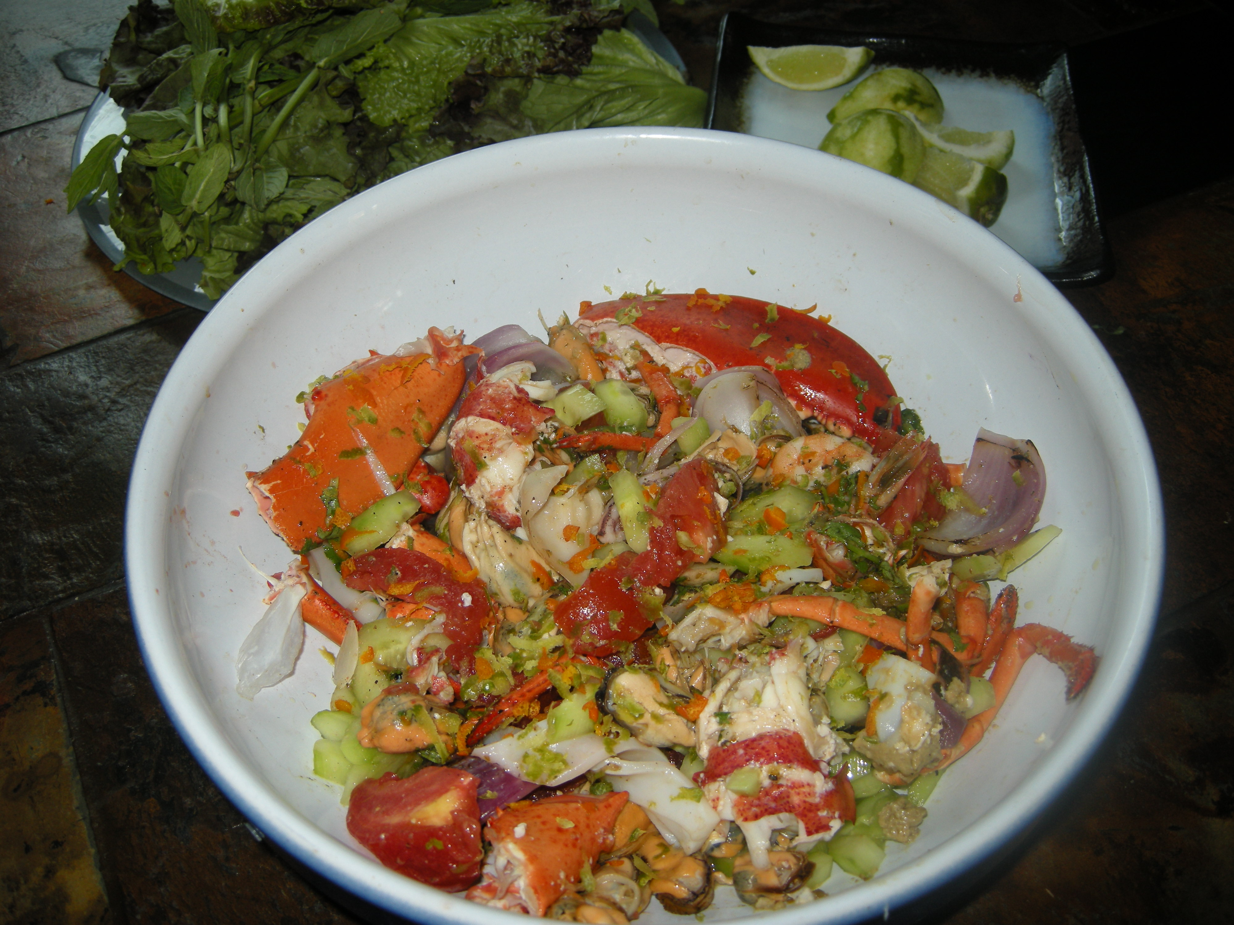 Salade et hors d oeuvre cuisine mexique for Hors d oeuvre avec saumon fume
